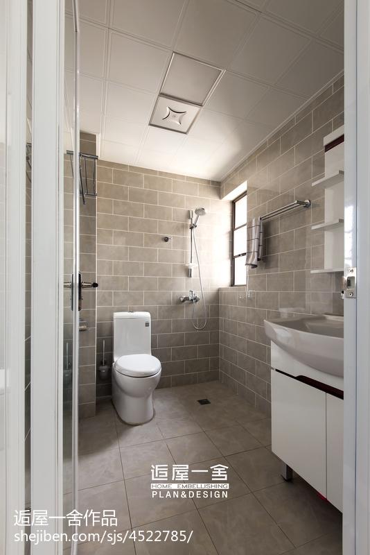 小户型欧式卫生间吊顶装修设计卫生间欧式豪华卫生间设计图片赏析