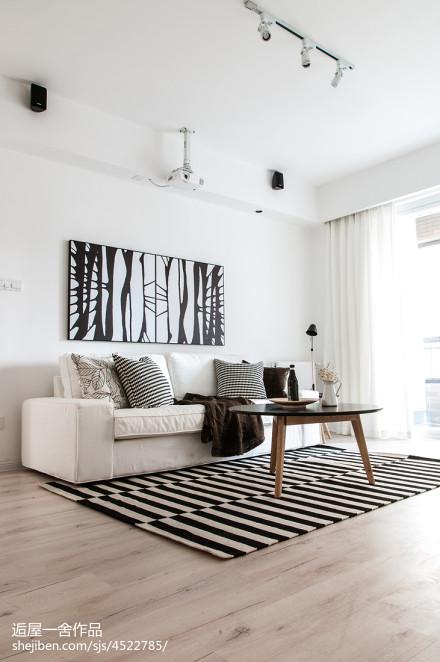 质朴34平欧式小户型客厅效果图
