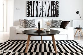 2018精选面积76平小户型客厅欧式装修效果图