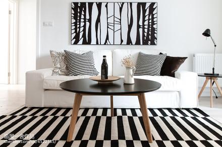 2018精选面积76平小户型客厅欧式装修效果图一居欧式豪华家装装修案例效果图