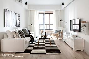平米欧式小户型客厅装修实景图片欣赏一居欧式豪华家装装修案例效果图