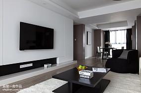 面积116平现代四居客厅装饰图片欣赏