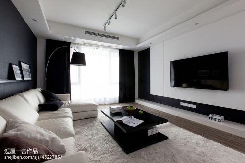 2018精选四居客厅现代装修效果图片欣赏客厅沙发121-150m²四居及以上现代简约家装装修案例效果图