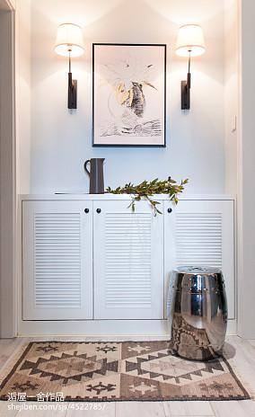 小户型欧式风格玄关鞋柜设计玄关欧式豪华设计图片赏析