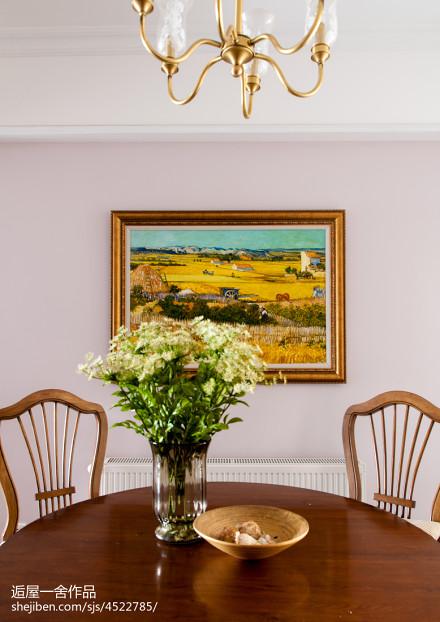 精美面积112平美式四居餐厅装饰图片厨房