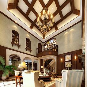 精选面积121平别墅客厅地中海装修设计效果图片大全