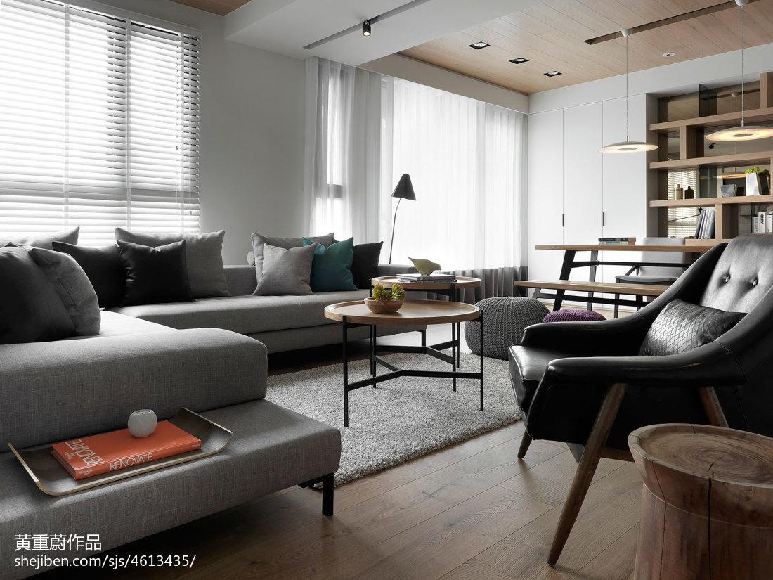 现代风格三居室客厅窗户装修设计客厅窗帘现代简约客厅设计图片赏析