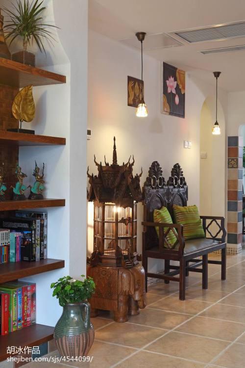 精选面积143平复式玄关东南亚装修图片欣赏玄关沙发