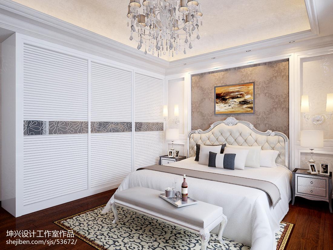 面积134平别墅卧室欧式装修设计效果图卧室