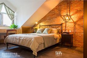 混搭风格卧室背景墙装修设计卧室潮流混搭设计图片赏析