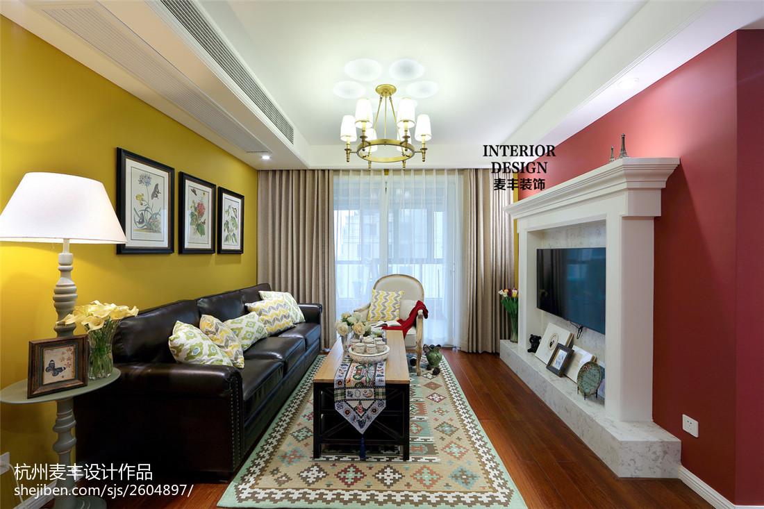 简约美式客厅壁炉设计图片客厅美式经典客厅设计图片赏析