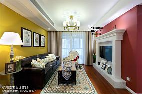 简约美式客厅壁炉设计图片