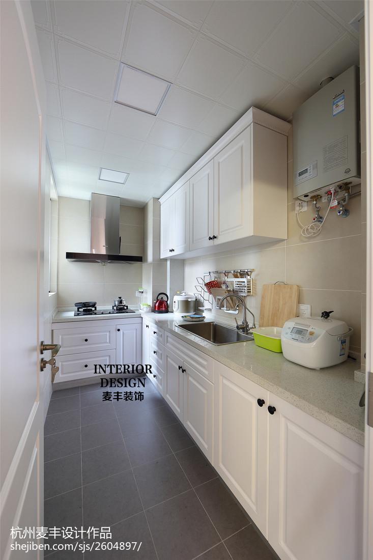 简约美式厨房集成吊顶设计图片餐厅美式经典厨房设计图片赏析
