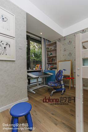 热门100平米三居儿童房现代装修实景图