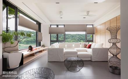 精美现代别墅客厅装修实景图