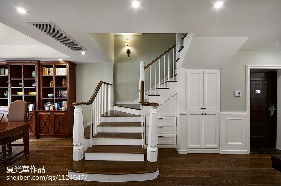 精美室内楼梯效果图汇总欣赏功能区美式经典功能区设计图片赏析