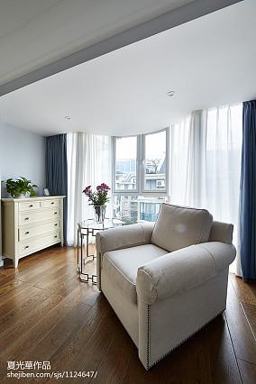 素颜简美复式阳台窗帘装修效果图