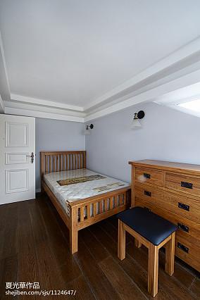 精美面积125平复式卧室美式装修欣赏图