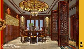 优雅925平中式别墅餐厅装修案例厨房1图中式现代设计图片赏析