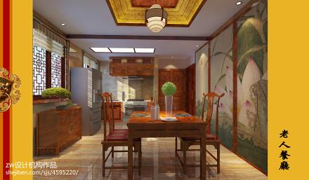 精致597平中式别墅餐厅装修图厨房2图