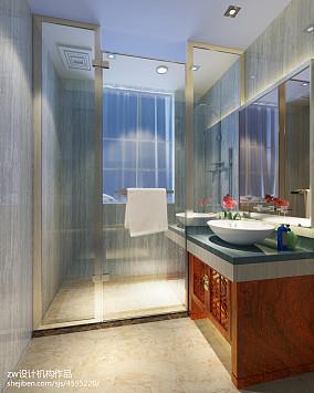 温馨289平中式别墅卫生间效果图欣赏卫生间中式现代设计图片赏析