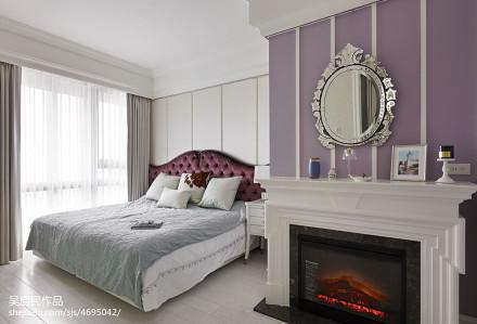 精美93平方三居卧室混搭装饰图片大全卧室