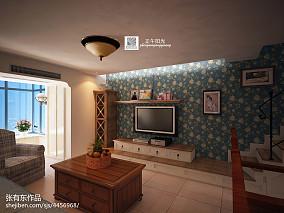 精美美式小户型客厅装饰图