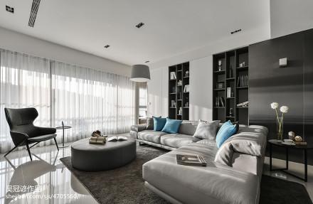 2018大小95平现代三居客厅装修实景图三居现代简约家装装修案例效果图