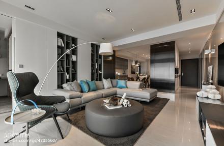 面积108平现代三居客厅装饰图片大全