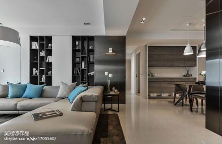 2018精选大小98平现代三居客厅效果图片大全