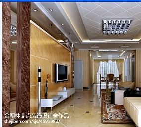 2018精选面积106平欧式三居客厅装修欣赏图片大全