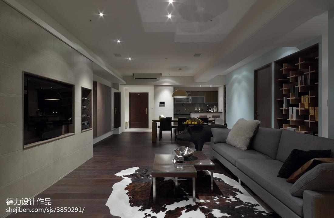 现代客厅电视墙装修图欣赏客厅现代简约客厅设计图片赏析
