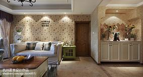 精选105平米三居客厅田园装修欣赏图片
