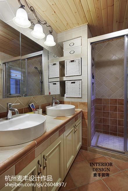 田园卫浴设计效果图欣赏卫生间
