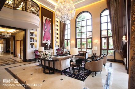 精选面积140平别墅客厅美式欣赏图片大全