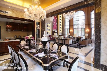 优雅725平美式别墅餐厅装修设计图