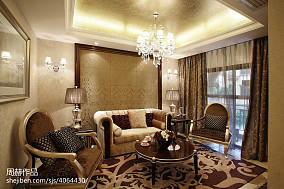 独栋别墅美式休闲区设计客厅美式经典客厅设计图片赏析