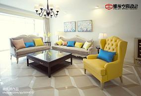 精美面积127平欧式四居客厅效果图片
