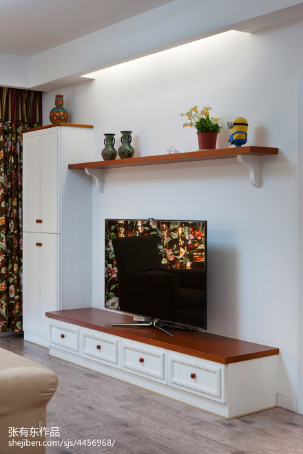 精美65平美式复式客厅设计效果图