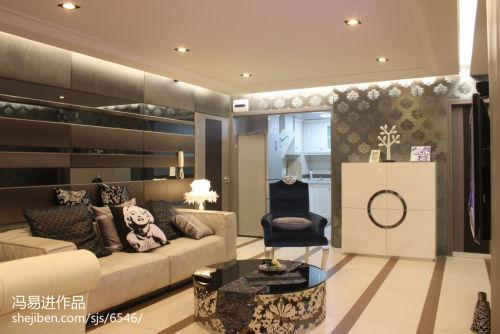 精选84平米混搭小户型客厅效果图片欣赏客厅沙发81-100m²一居潮流混搭家装装修案例效果图