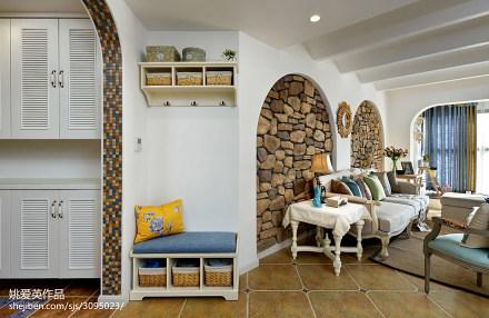 精选面积108平混搭三居客厅装修设计效果图片