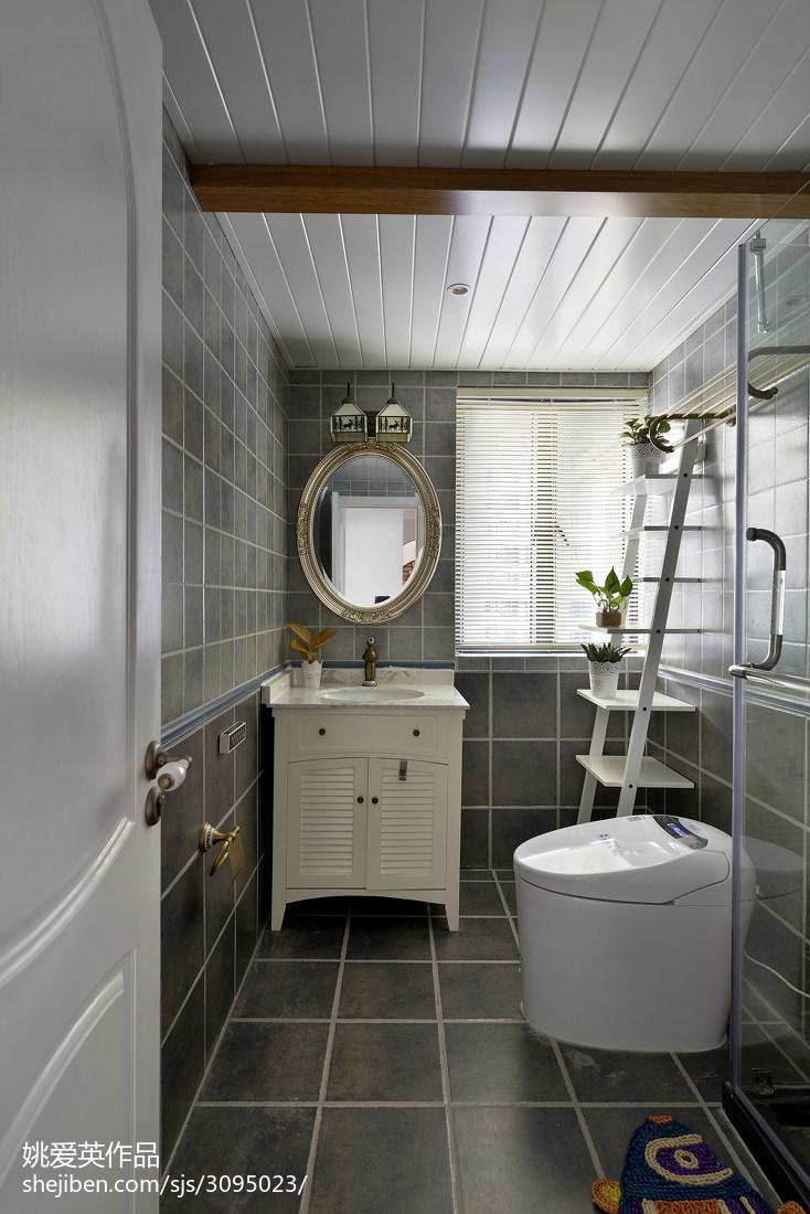 地中海风格卫生间吊顶设计卫生间潮流混搭卫生间设计图片赏析