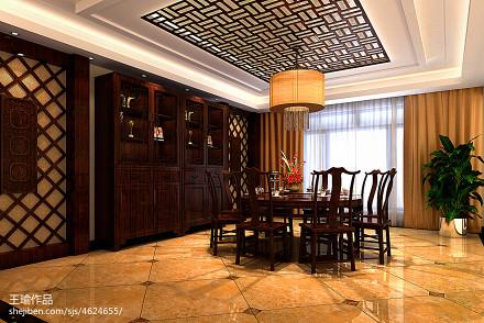 平米中式别墅餐厅装修欣赏图厨房