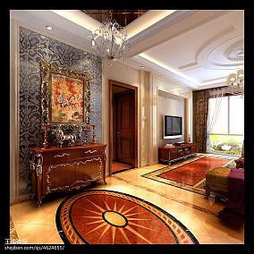 平欧式四居玄关装饰美图玄关欧式豪华设计图片赏析