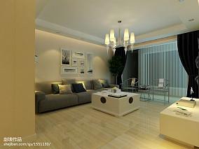 灰色现代布艺沙发装潢案例