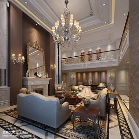 简欧式客厅灯装修效果图图库欣赏