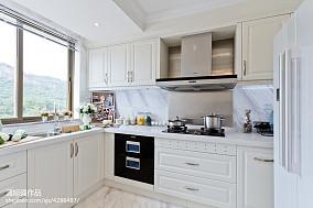 欧式厨房样板房效果图餐厅欧式豪华设计图片赏析