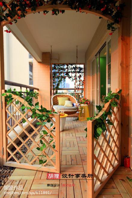 平现代三居阳台图片欣赏阳台