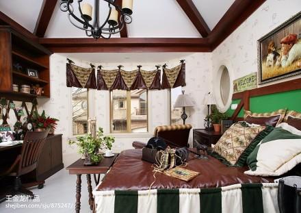 热门美式卧室装修设计效果图片样板间美式经典家装装修案例效果图