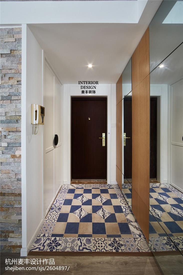 北欧现代玄关鞋柜装修效果图玄关门现代简约玄关设计图片赏析